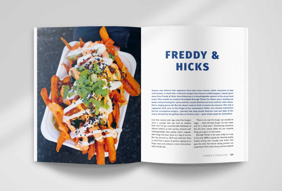 Street Food Scotland book spread